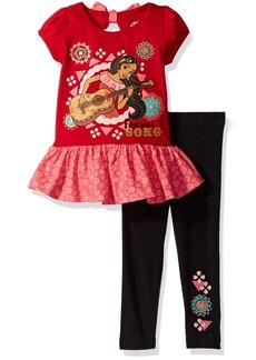 Disney Little Girls' 2 Piece Elena Of Avalor Legging Set With Chiffon