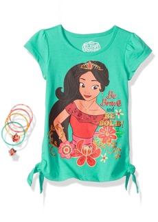 Disney Girls' Little 2 Piece Elena Tee Shirt and Hair Accessories