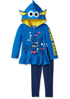 Disney Girls' 2 Piece Finding Dory Legging Set Roleplay