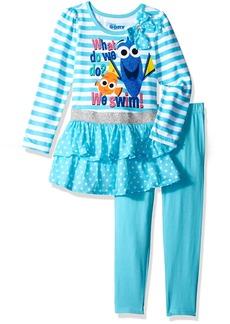 Disney Girls' 2 Piece Finding Dory Legging Set Glitter