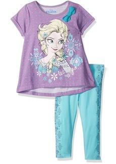 Disney Little Girls' 2 Piece Frozen Legging Set