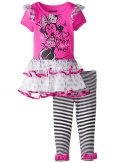 Disney Girls' Minnie Mouse 2-Piece Legging Set Happy to be