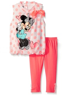 Disney Girls' Minnie Mouse 2-Piece Legging Set Polka