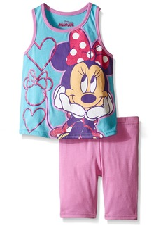 Disney Girls' Minnie Mouse 2-Piece Short Set