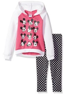 Disney Little Girls' 2 Piece Minnie Hooded Sweatshirt With Legging