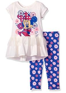 Disney Little Girls' 2 Piece Minnie Mouse Legging Set