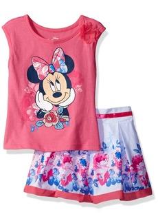 Disney Little Girls' 2 Piece Minnie Mouse Scooter Set