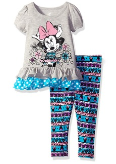 Disney Girls' Minnie Mouse 2-Piece Legging Set Grey