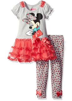 Disney Girls' Minnie Mouse 2-Piece Legging Set Ruched