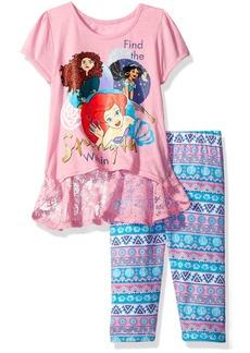 Disney Little Girls' 2 Piece Princesses Legging Set