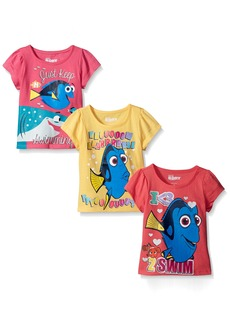 Disney Little Girls' 3 Pack Finding Dory T-Shirt Shirts