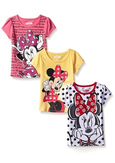 Disney Little Girls' 3 Pack Minnie Mouse T-Shirts