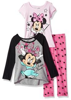 Disney Little Girls' 3 Piece Minnie Mouse Legging Set