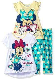Disney Little Girls' 3 Piece Minnie Mouse Printed Legging Set