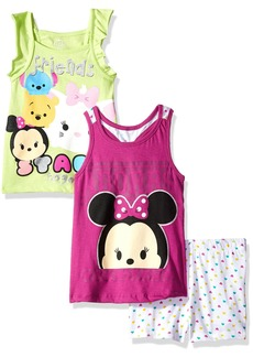 Disney Little Girls' 3 Piece Tsum Short Set