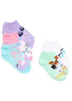 Disney Little Girls 5-Pk. The Secret Life of Pets No-Show Socks