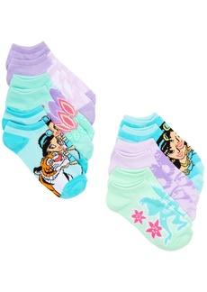 Disney Little Girls 6-Pk. Aladdin No-Show Socks