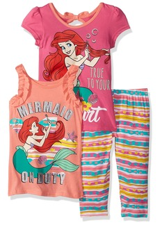 Disney Little Girls' Ariel Mermaid 3 Piece Legging Set