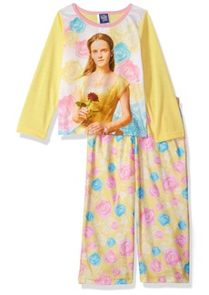 Disney Little Girls' Beauty and The Beast Belle 2-Piece Pajama Set