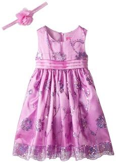 Disney Little Girls' Disney Princess Rapunzel Dress with Matching Tiara