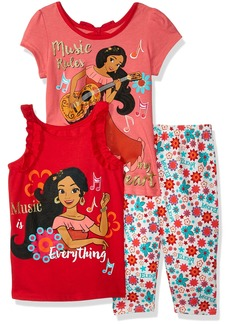 Disney Little Girls' Elena Of Avalor 3 Piece Legging Set