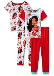 Disney Little Girls' Elena of Avalor 4-Piece Cotton Pajama Set
