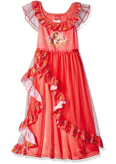 Disney Little Girls' Elena Of Avalor Fantasy Nightgown Red As Royalty
