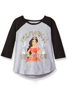 Disney Little Girls' Elena Raglan Tee