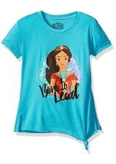 Disney Girls' Little Elena Tie Front Tee