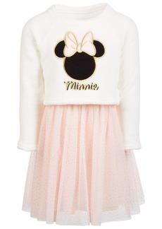 Disney Little Girls Embroidered Minnie Dress