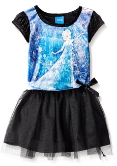 Disney Little Girls Enchanted Elsa Penne Dress