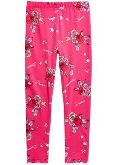Disney Little Girls Floral-Print Princess Leggings