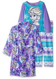 Disney Little Girls' Frozen 3-Piece Robe Pajama Set
