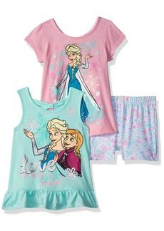 Disney Girls' Little Frozen 3 Piece Short Set