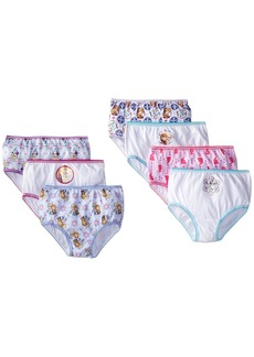 Disney Little Girls' Frozen 7 Pack Panty
