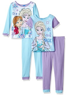 Disney Little Girls' Frozen Elsa -Piece Cotton Pajama Set