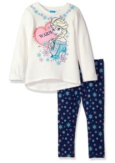 Disney Little Girls' Frozen Elsa Hi Lo Tunic Legging Set