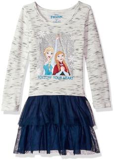 Disney Little Girls' Frozen Ls Dress W Tulle Skirt