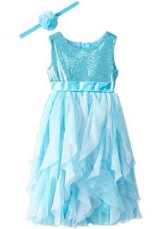 Disney Little Girls' Frozen Queen Elsa Dress with Matching Tiara