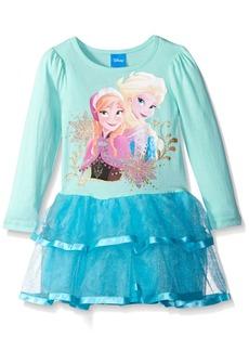 Disney Little Girls Frozen Sisters Long Sleeve Tutu Dress
