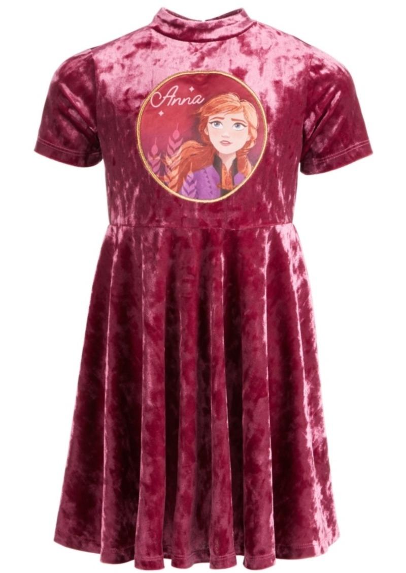 Disney Little Girls Frozen Velvet Anna Dress