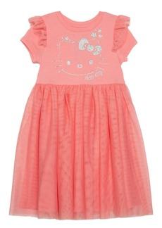 Disney Toddler Girls Hello Kitty Star Dress with Mesh Skirt