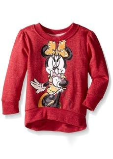 Disney Little Girls' Long Sleeve Minnie Fashion Top Sweatshirt