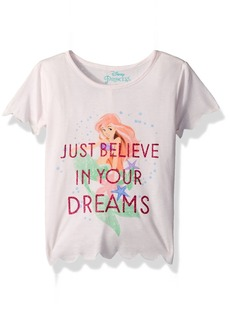 Disney Little Girls' Mermaid Ariel Scalloped T-Shirt