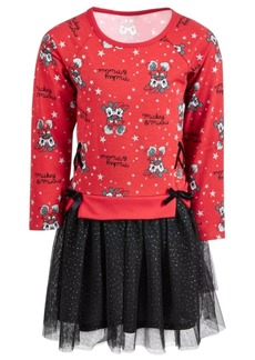 Disney Toddler Girls Mickey & Minnie Mouse Layered-Look Tutu Dress