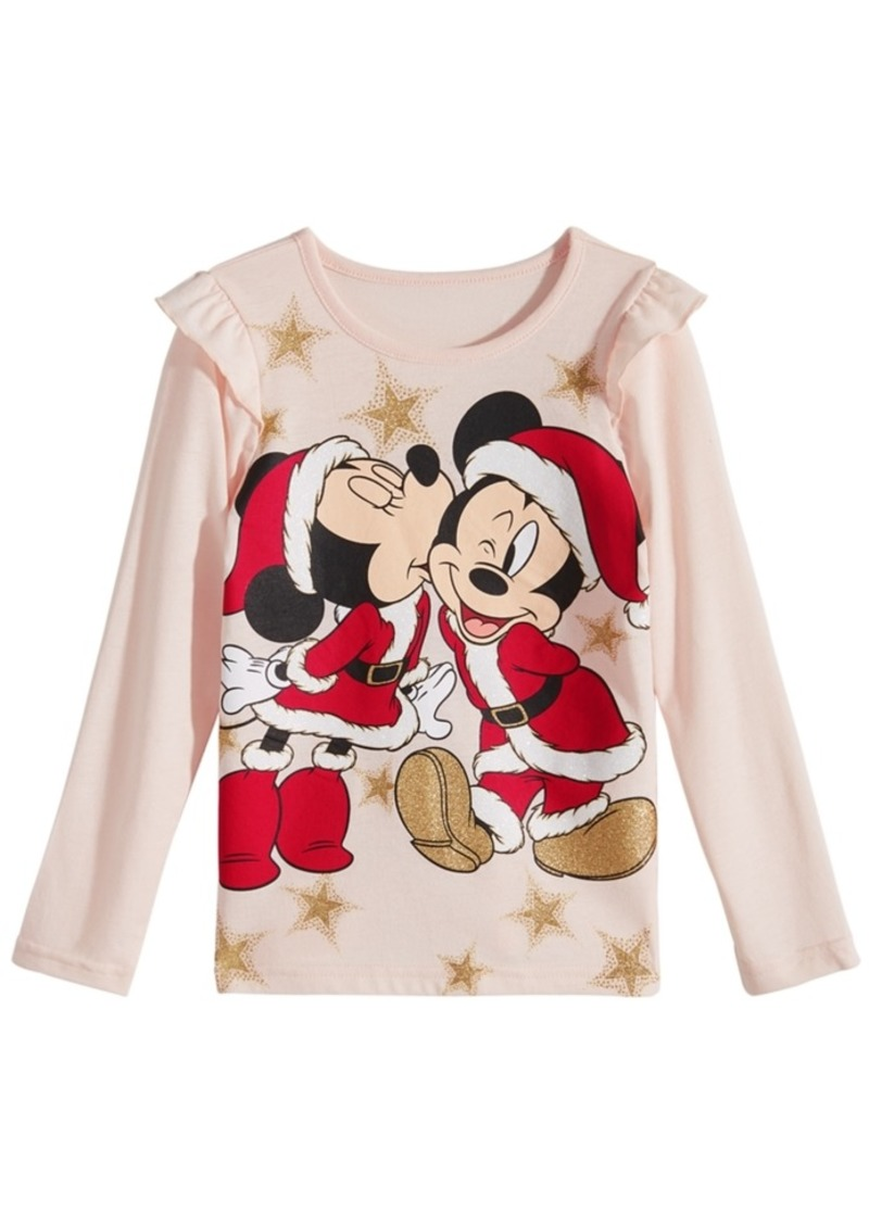 39157379a92 Disney Disney Toddler Girls Mickey   Minnie Mouse T-Shirt
