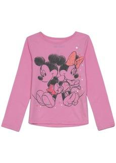 Disney Toddler Girls Mickey Minnie Love Long Sleeve T-shirt