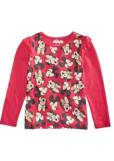 Disney Little Girls Minnie & Mickey Mouse T-Shirt