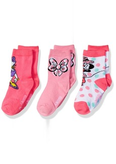 Disney Little Girls' Minnie Mouse 3 Pack Crew Socks