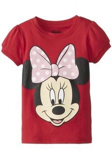 Disney Little Girls' Toddler Minnie Mouse Big Face Girls T-Shirt